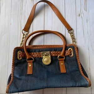 Michael Kors denim Hamilton purse